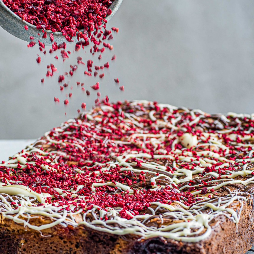 Chocolate & Cherry Brownie - Image