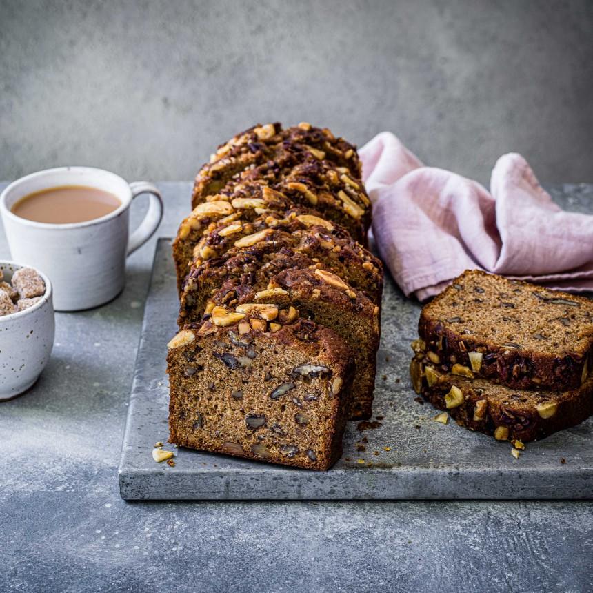Caramelised Banana Nut Loaf Cake - Image