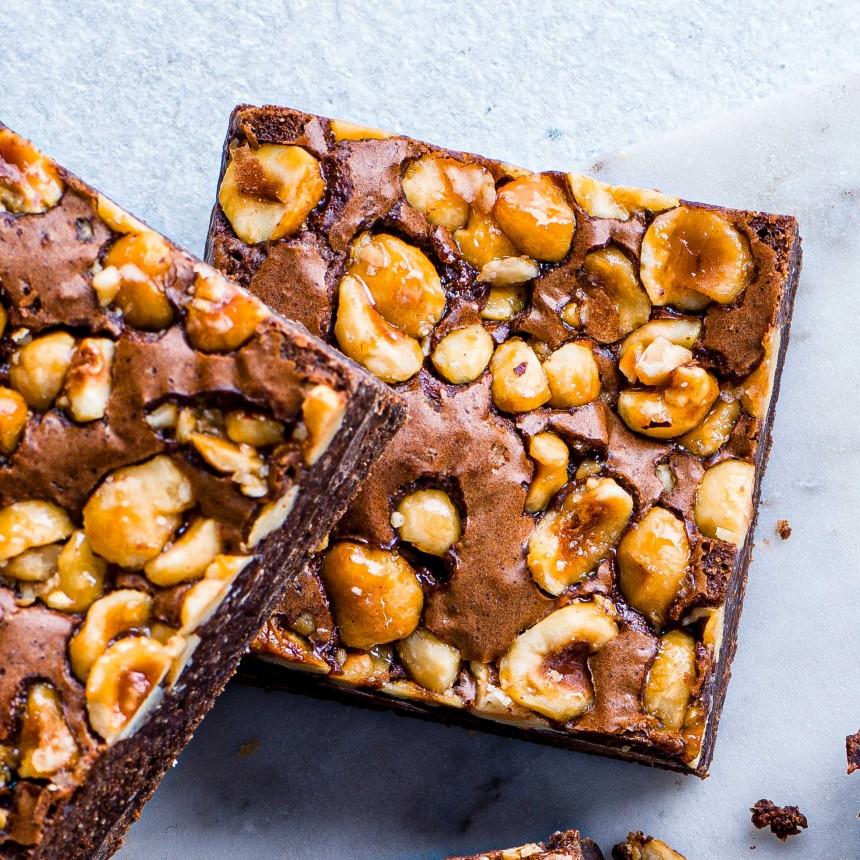 Caramelised Hazelnut Brownie - Image