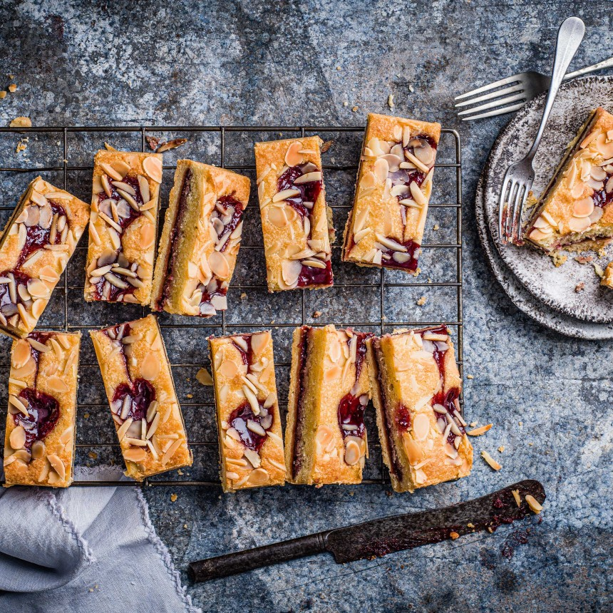 Raspberry& Almond Bakewell Slice - Image