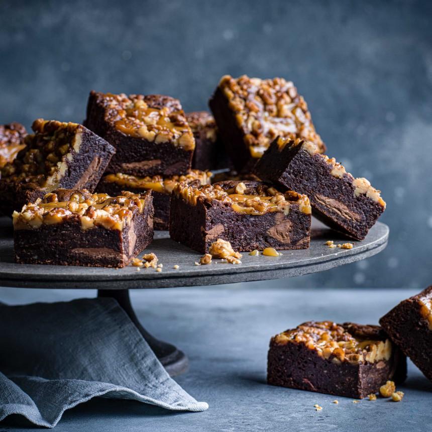 Salted Caramel& Walnut Brownie - Image