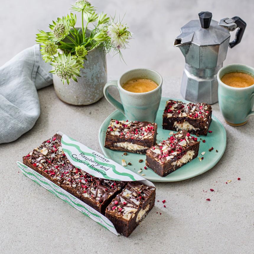Raspberry & Coconut Brownie - Image