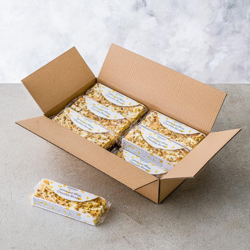 Lemon & White Chocolate Blondie - Image